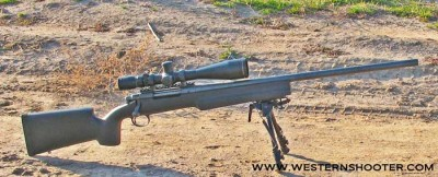 B&C Tactical Medalist Stock Mounted on Remington 700 LA