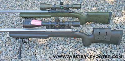 Savage Rifles mounted in B&C Tactical Medalist Stocks