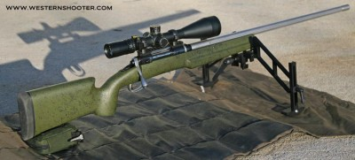 Bell and Carlson Tactical Medalist Stock on Savage Rifle with Sinclair Bipod