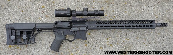 Kahles K16i 1-6x24 Mounted in Bennie Cooley Sniper Assault Mount on Seekins Precision Rifle